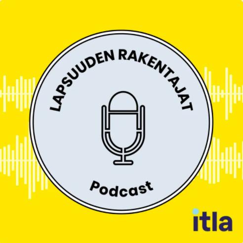 Lapsuudenrakentajat -podcastin logo, jossa mikrofoni