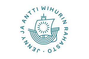 Ympyrän sisällä piirretty laiva ja ympärillä teksti Jenny ja Antti Wihurin rahasto.