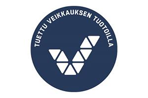 Veikkauksen pyöreä logo, jossa teksti