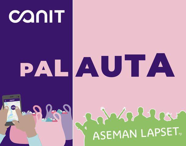 Canit-logo ja Asemanlapset-logo, sekä teksti palauta